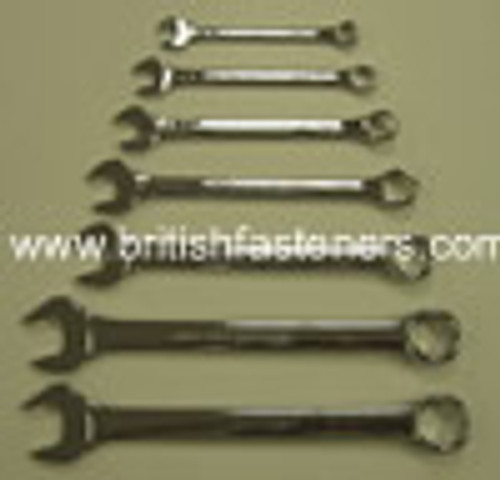 KING DICK COMBINATION SPANNER SET (7 PIECE) 3/16 - 9/16 WHITWORTH - (7766)
