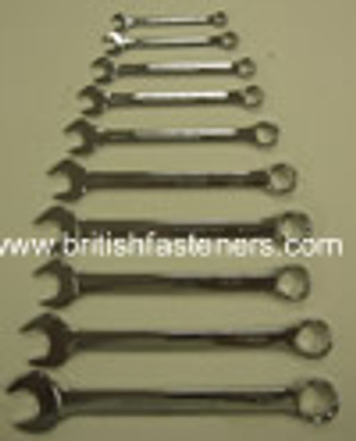KING DICK COMBINATION SPANNER SET 10PC 1/8W-11/16W - (7767)