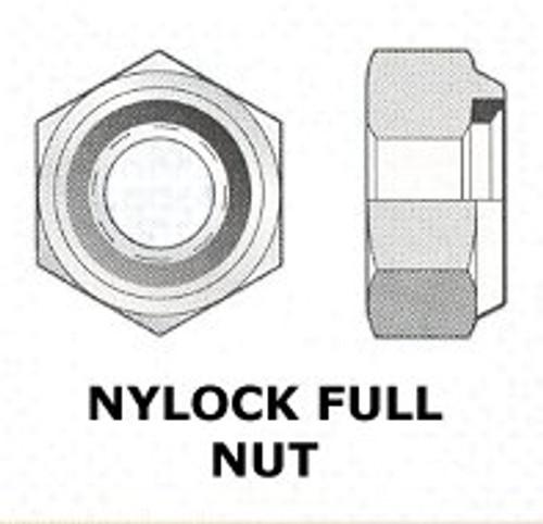 """BSF 5/16"""" - 22 NYLOCK NUT S/S - (7192)"""