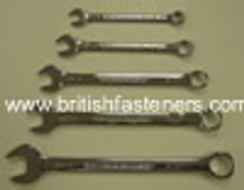 "KING DICK COMBINATION SPANNER SET (5 PIECE) 1/8""W-3/8W - (7791)"