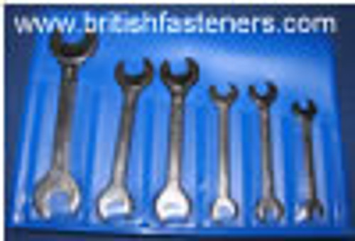 KING DICK 0BA - 10BA OPEN END WRENCH SET - (7792)