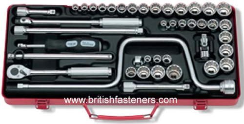 KOKEN METRIC SAE & WHITWORTH SOCKET SET - (7913)