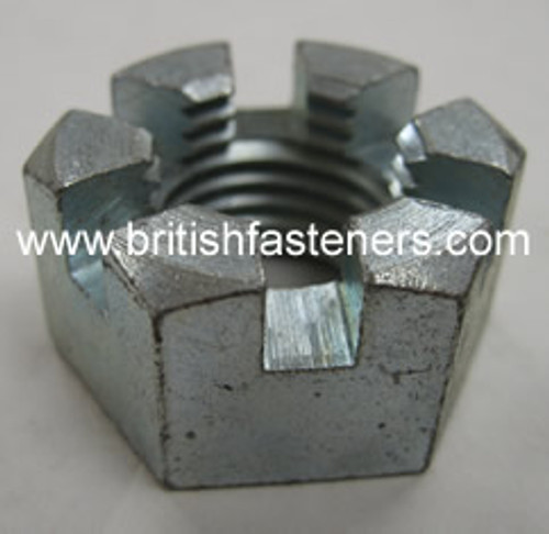 """BSF 1/2"""" - 16 SLOTTED NUT  (2375)"""