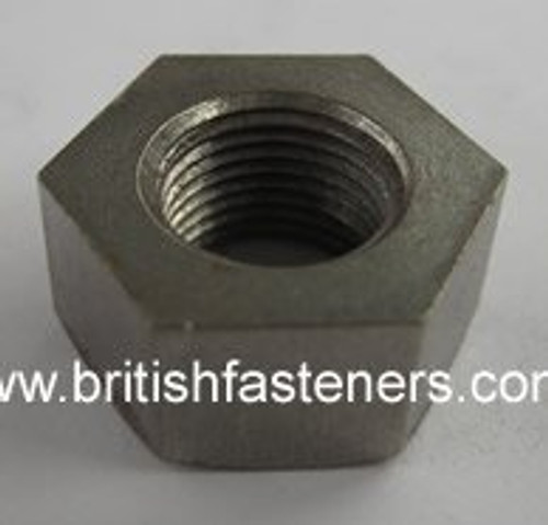 """BSC 7/16"""" - 26 STANDARD NUT SMALL HEX -- LEFT HAND -- (7283)"""