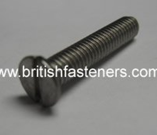 "2BA x 5/8"" Stainless Steel Slotted Countersunk Screw - (6726)"