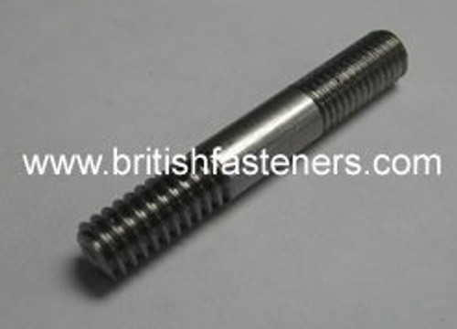 "UNF 1/4"" x 4"" LONG STUD - 28 TPI - (102)"