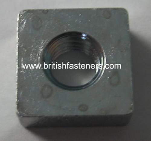 """BSF 1/4"""" - 26 STEEL SQUARE NUT - (BSFSQ)"""