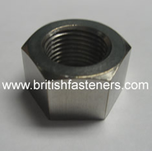 "BSW 1/2""-12 HEX NUT - LEFT HAND THREAD"