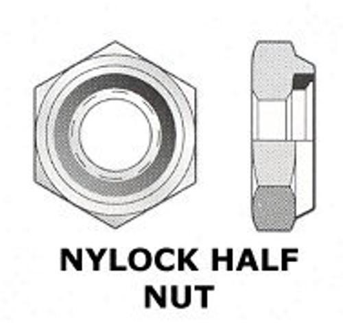 """UNF 3/8"""" - 24 NYLOCK NUT THIN  (3640)"""