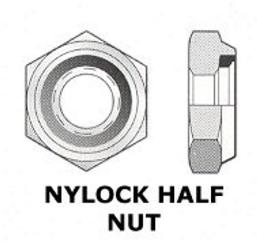"UNF 3/8"" - 24 NYLOCK NUT THIN  (3640)"