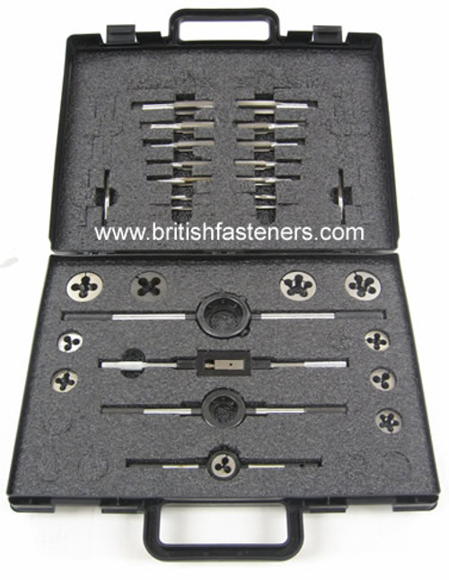 BSW 27 PIECE TAP & DIE SET - (4310)