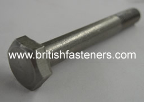 """Stainless Bolt BSF/BSC Hex 1/4 x 2"""" - (6345)"""