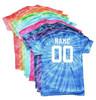 "Custom Basketball Tie Dye T-Shirt ""Love Basketball"" Logo"