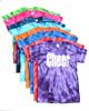 """Cheerleading Tie Dye T-Shirt """"Cheer"""" Logo"""