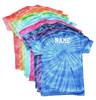"""Custom Cheerleading Tie Dye T-Shirt """"Cheer"""" Logo"""