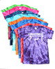 """Volleyball Tie Dye T-Shirt """"Players with Net"""" Logo"""