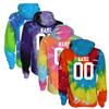 "Volleyball Tie Dye Sweatshirt ""Stacked"" Logo"
