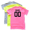 "Custom Lacrosse Solid T-Shirt ""Work Hard"" Black Logo"