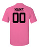 "Custom Lacrosse Solid T-Shirt ""Power for Pink"" Logo"