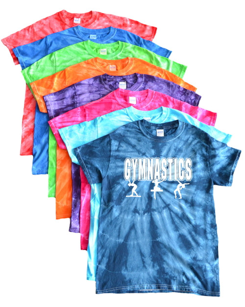 "Gymnastics Tie Dye T-Shirt ""3 Girls"" Logo"