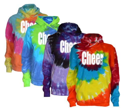 "Cheerleading Tie Dye Sweatshirt ""Cheer"" Logo"