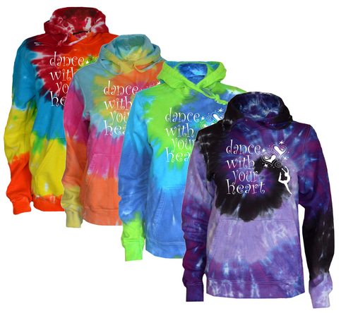 "Dance Tie Dye Sweatshirt ""Dance with your Heart"" Logo"