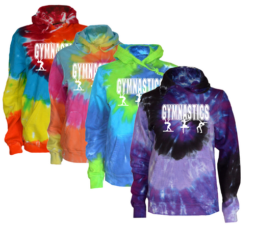 "Gymnastics Tie Dye Sweatshirt ""3 Girls"" Logo"