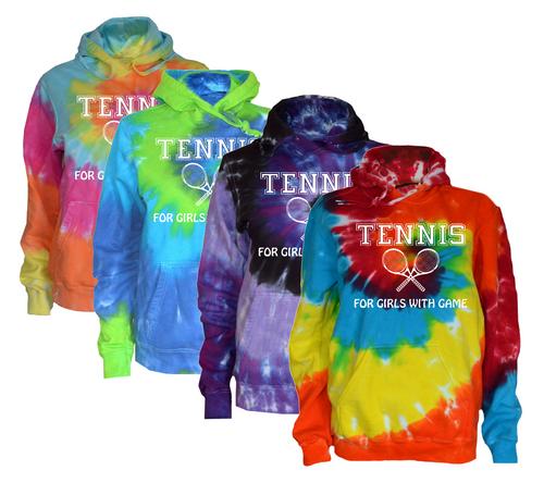 "Tennis Tie Dye Sweatshirt""Girls with Game"" Logo"