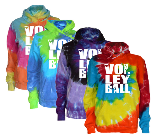 "Volleyball Tie Dye Sweatshirt ""Stacked"" Logo"