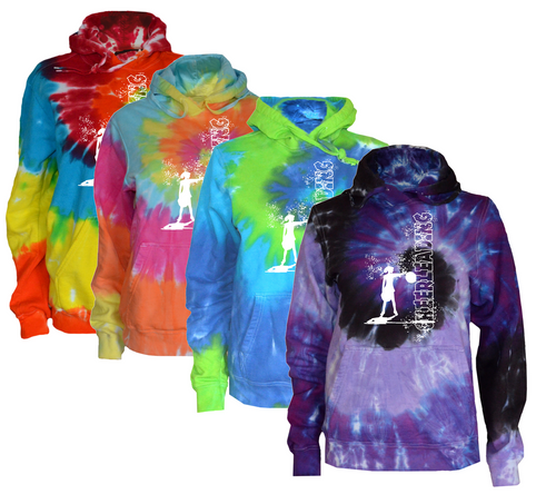"Cheerleading Tie Dye Sweatshirt""Cheerleader"" Logo"