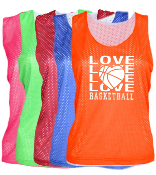 "Basketball Pinnie ""Love Basketball"" Logo"