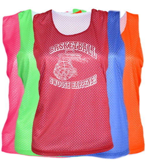 "Basketball Pinnie ""Swoosh Happens"" Logo"