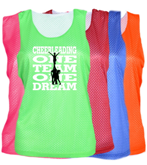"Cheerleading Pinnie ""One Team One Dream"" Logo"