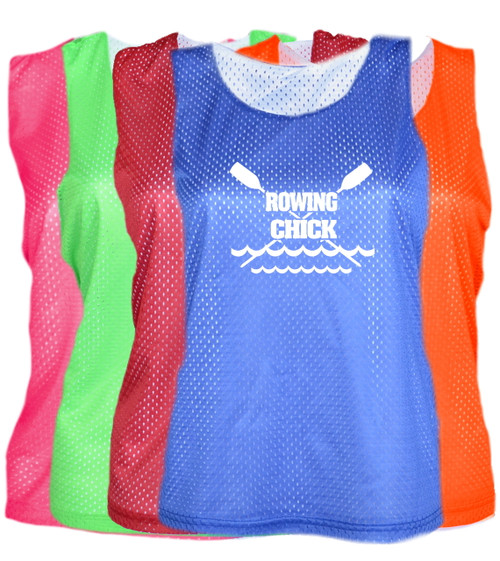 "Crew Pinnie ""Rowing Chick"" Logo"