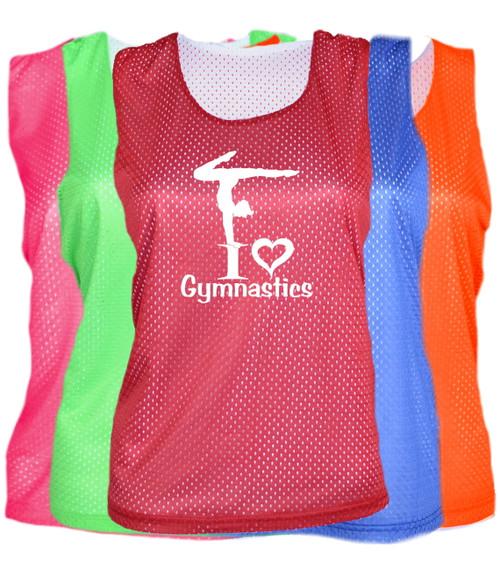 "Gymnastics Pinnie ""I Love Gymnastics"" Logo"