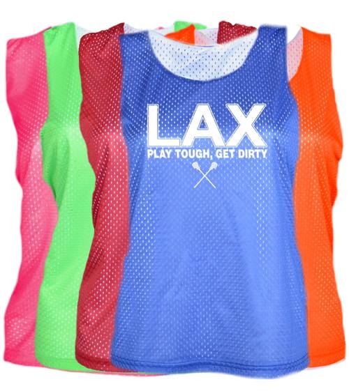 "Lacrosse Pinnie ""LAX"" White Logo"