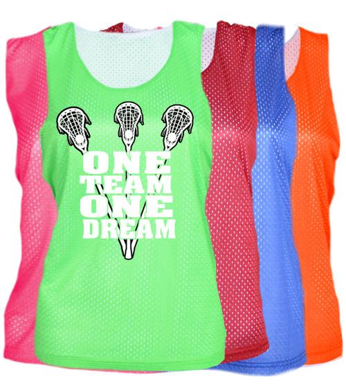 "Lacrosse Pinnie ""One Team One Dream"" Logo"