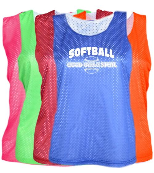 "Softball Pinnie ""Good Girls Steal"" Logo"