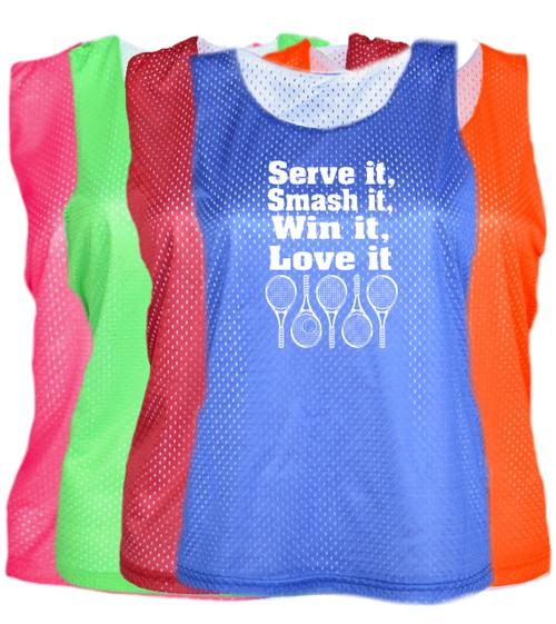 "Tennis Pinnie ""Serve It Smash It"" Logo"