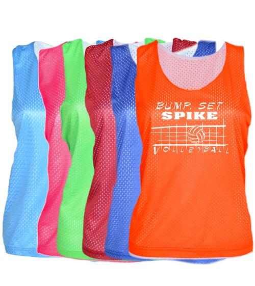 "Volleyball Pinnie ""Bump Set Spike"" Logo"