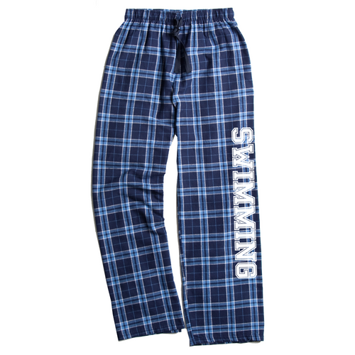 Swimming Columbia Blue Flannel Pants