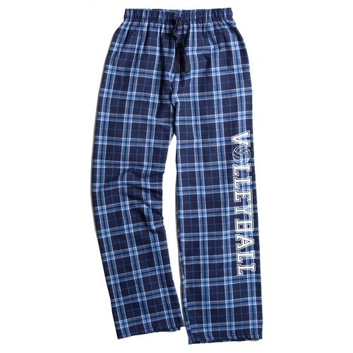 Volleyball Columbia Blue Flannel Pants
