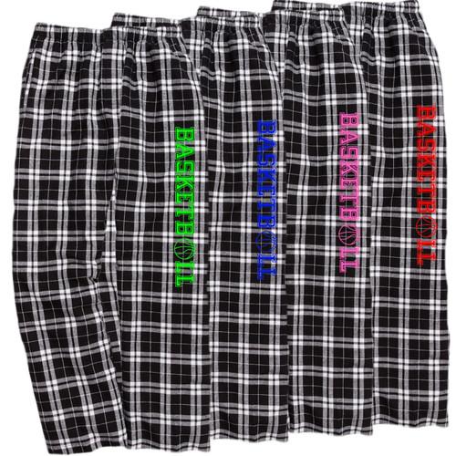 Basketball Black/White Flannel Pants