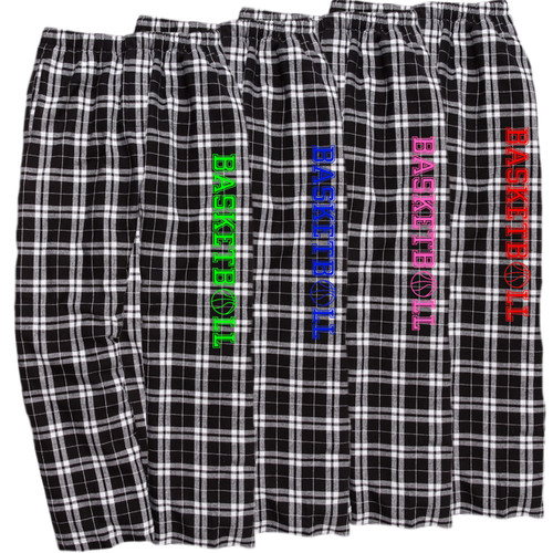 Basketball Black/White Flannel Pants