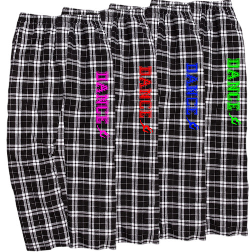 Dance Black/White Flannel Pants