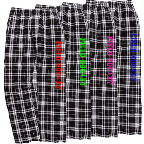 Field Hockey Black/White Flannel Pants