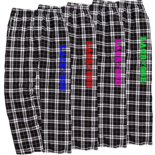Lacrosse Black/White Flannel Pants