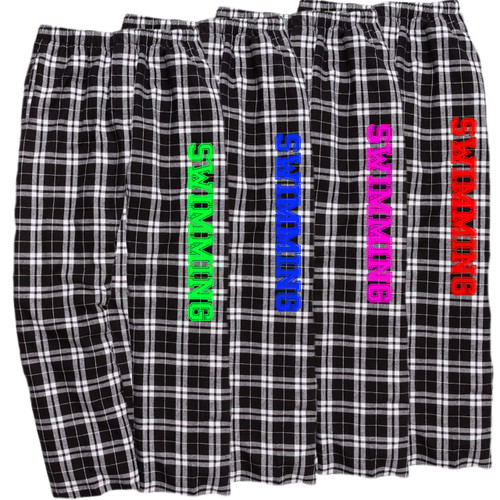 Swimming Black/White Flannel Pants