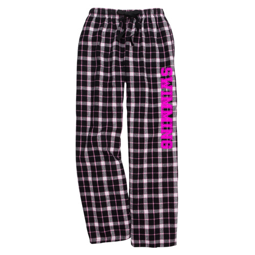 Swimming Black/Pink Flannel Pants
