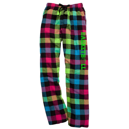 Basketball Neon Flannel Pants